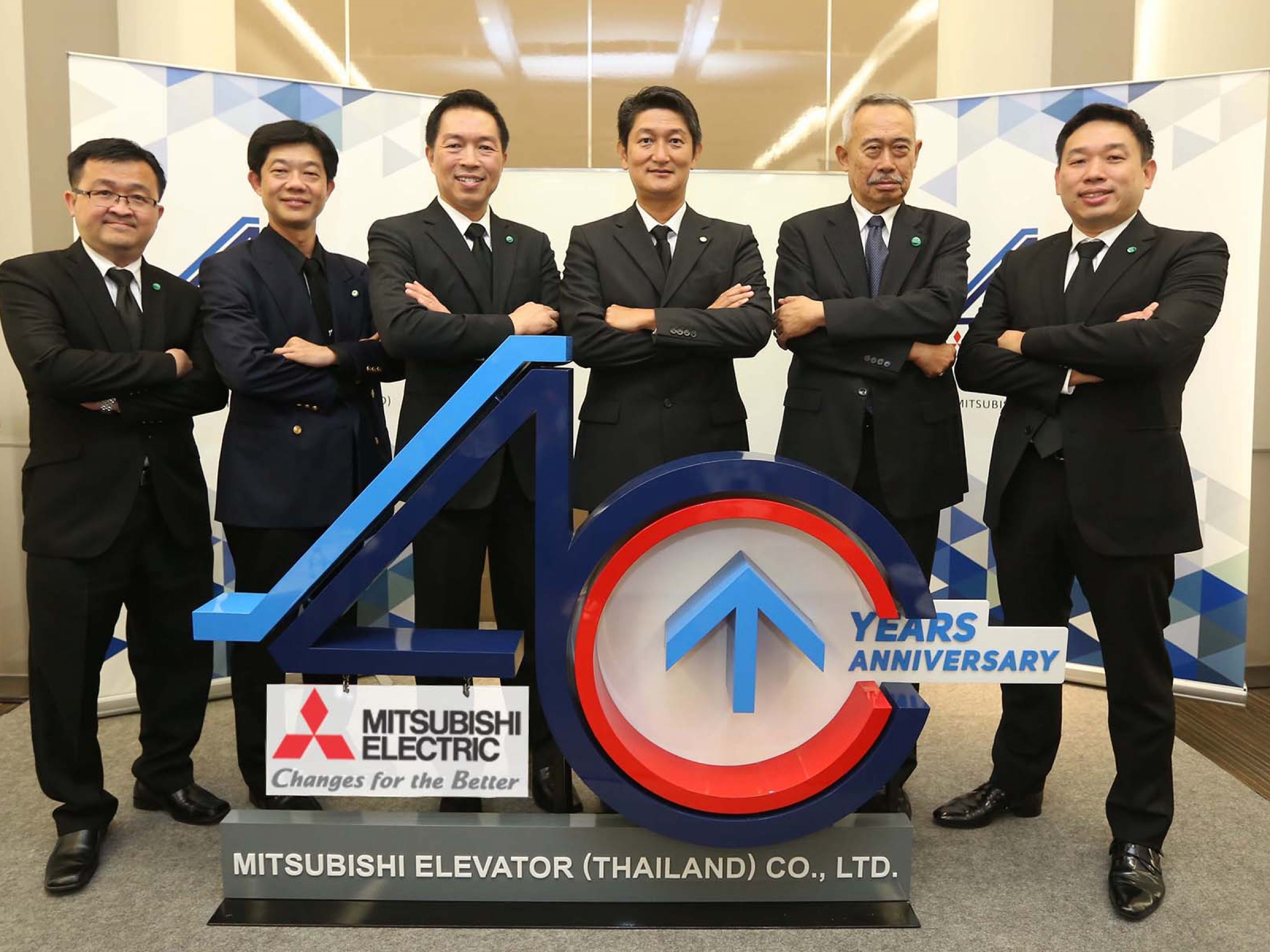 Mitsubishi Elevator (Thailand) Press Conference on business direction for the 40th Anniversary