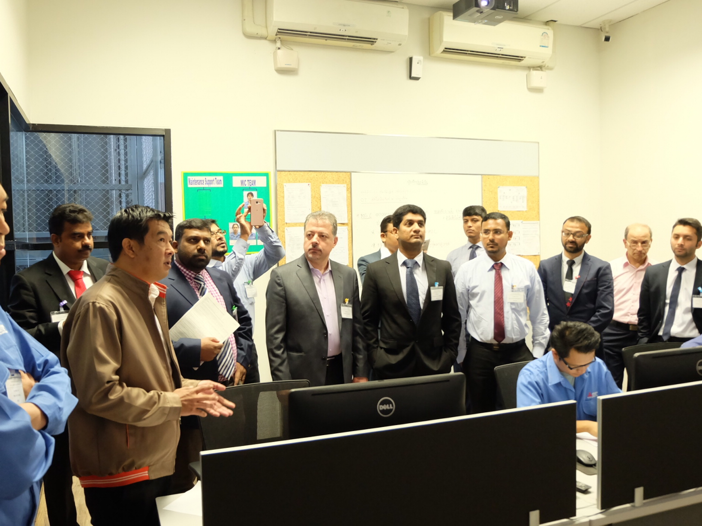 Mitsubishi Elevator Training Center welcomed 46 representatives from worldwide Joint Venture of Mitsubishi Elevator