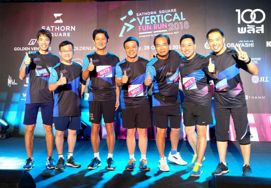 Mitsubishi joined Vertical Fun Run at Sathorn Square