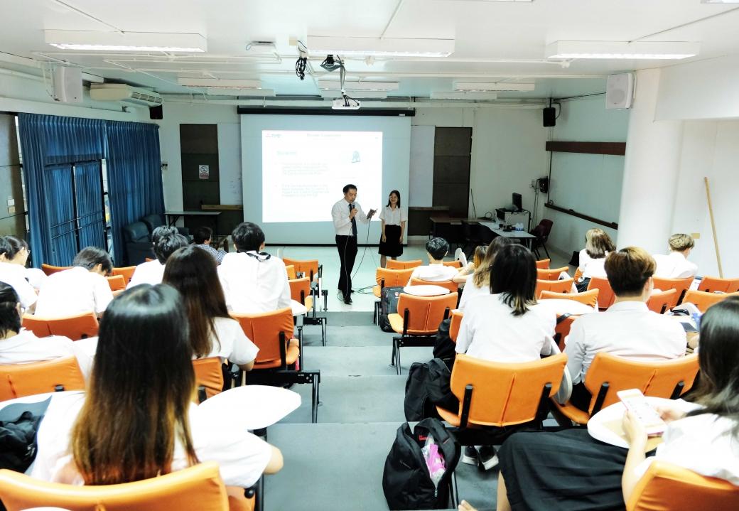 Mitsubishi gives a lecture to students at KMITL