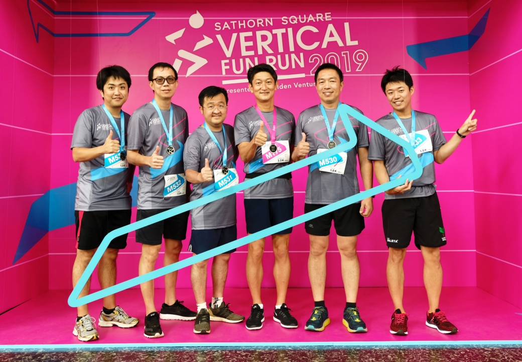 Mitsubishi joined Vertical Fun Run 2019 at Sathorn Square