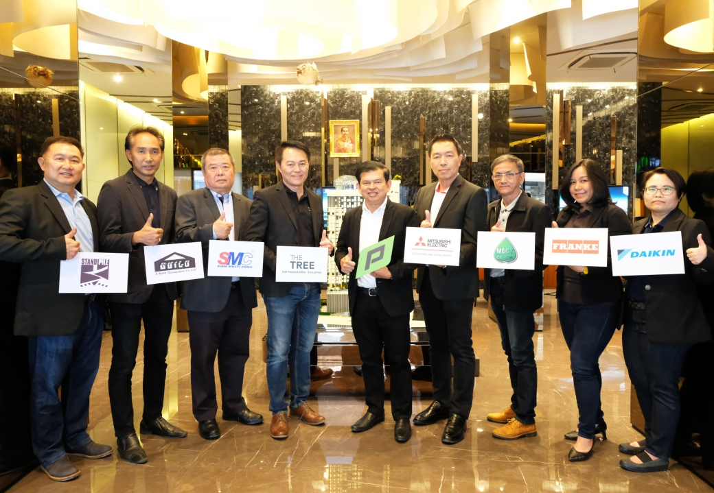 Mitsubishi Elevator (Thailand) joined the congratulation of Pruksa Real Estate to launch a new project, The Tree Pattanakarn-Ekamai